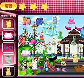 Hidden Objects Fashion Theme